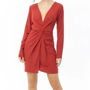 Twist Front Mini Dress